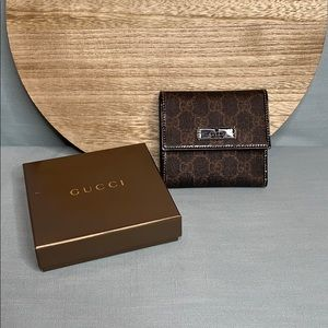Authentic Gucci Joy French Flap Wallet